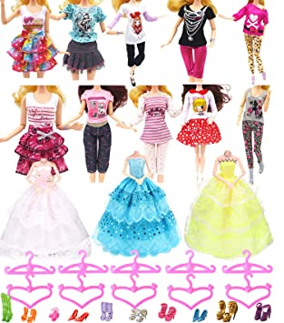 Barbie Kleidung Puppen Kleider Accessoires Geschenk für Mädchen Kostüm Zubehör Babypuppen & Zubehör Kleidung & Accessoires