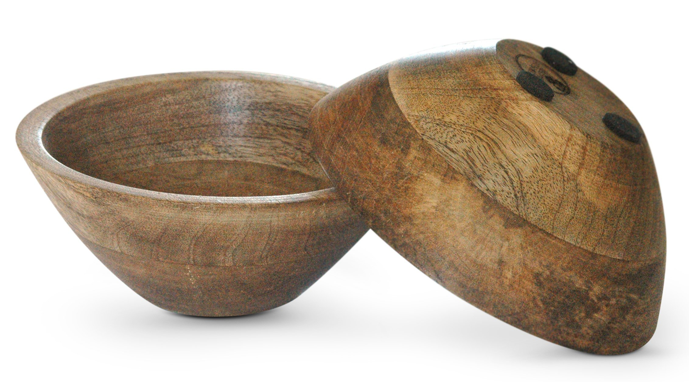 Large 7: Bowls. Fit to be Added to Your Snack/Hostess Gift Ideas for Next Party - Set of 2 Wooden Snack Bowls (2)