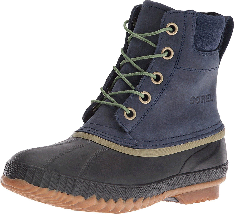 Sorel Mens Cheyanne Lace Full Grain Rain Boot,Collegiate Navy,9 M US