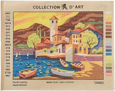 Montagne Casades Collection D' Art Imprimé Tapisserie Toile Broderie