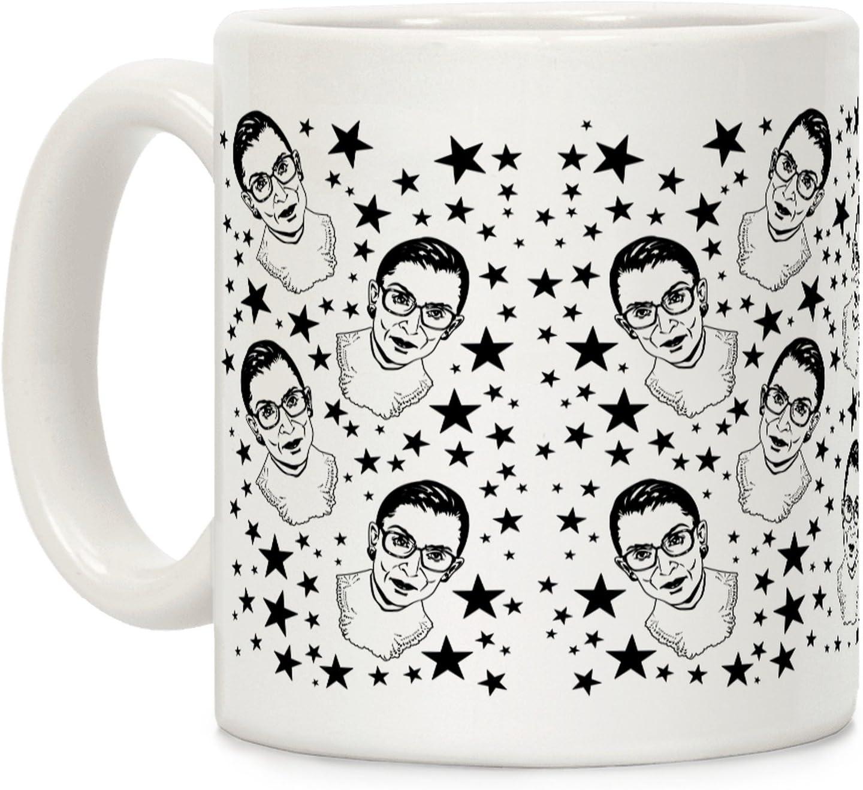 LookHUMAN Ruth Bader Ginsburg White 11 Ounce Ceramic Coffee Mug