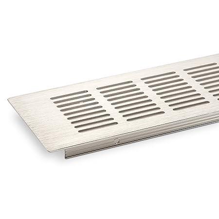 Rejilla de ventilación rejilla 500 x 80 mm chapa perforada ...