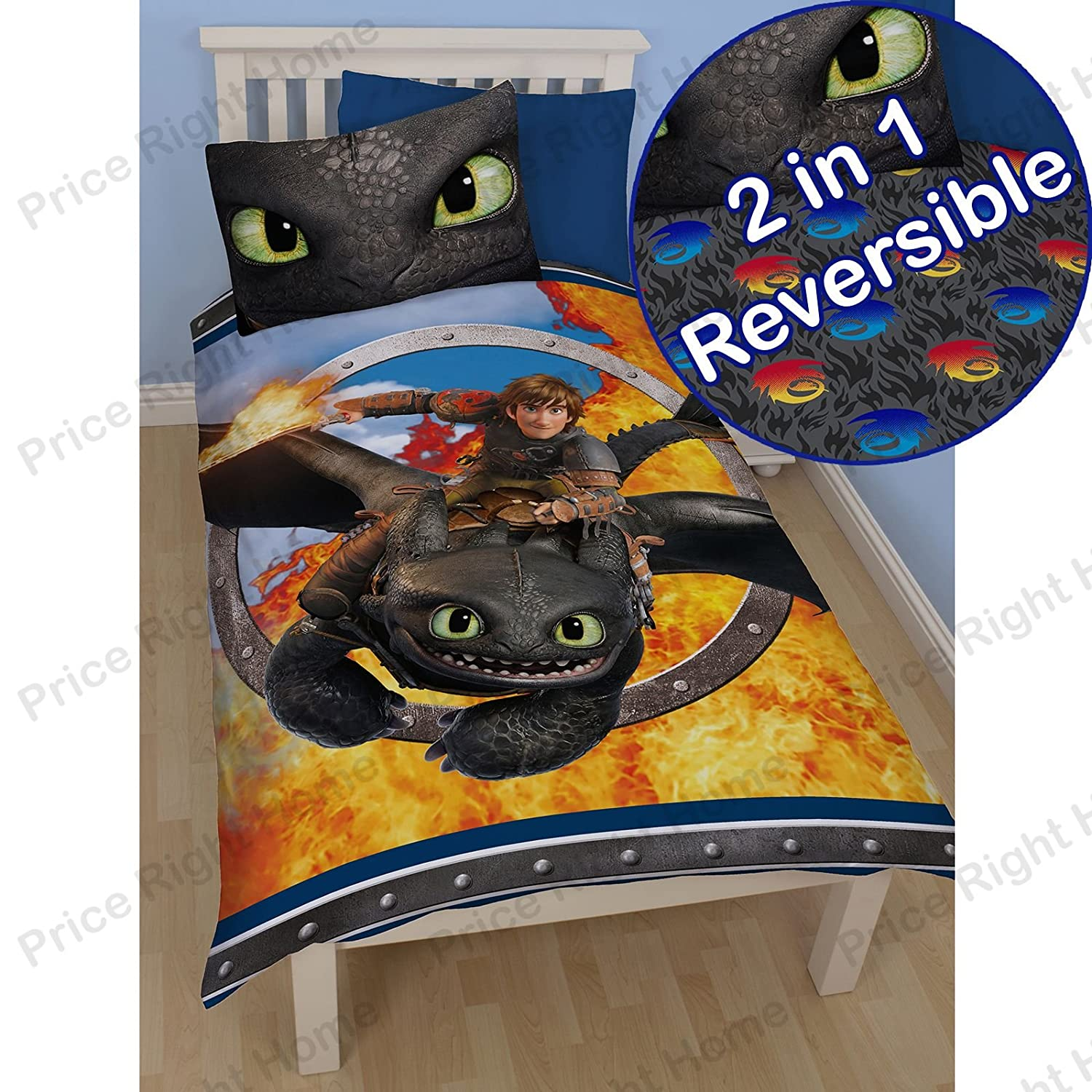 Character world dreamworks dragons toothless single panel duvet character world dreamworks dragons toothless single panel duvet set amazon kitchen home ccuart Image collections