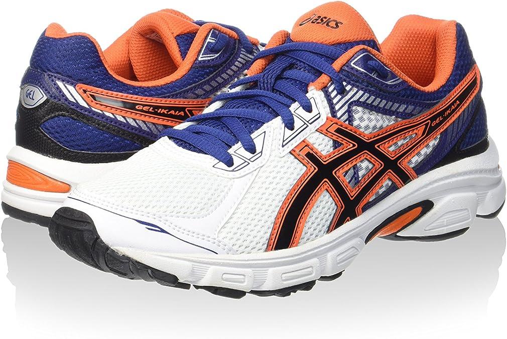 Asics Zapatillas Gel-Ikaia 5 Blanco/Naranja/Azul Índigo EU 46.5 (US 12): Amazon.es: Zapatos y complementos