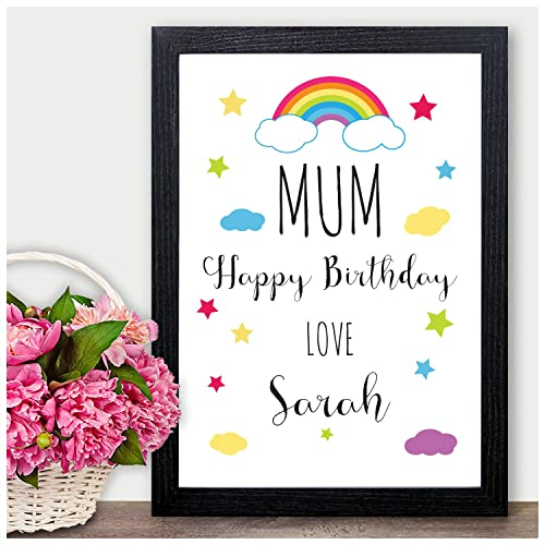 Personalised Mum Mummy Birthday Print Gift Happy Gifts For Her