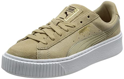 54cb9f3afc97 PUMA Womens Suede Platform Metallic Trainers in Safari.  Puma ...