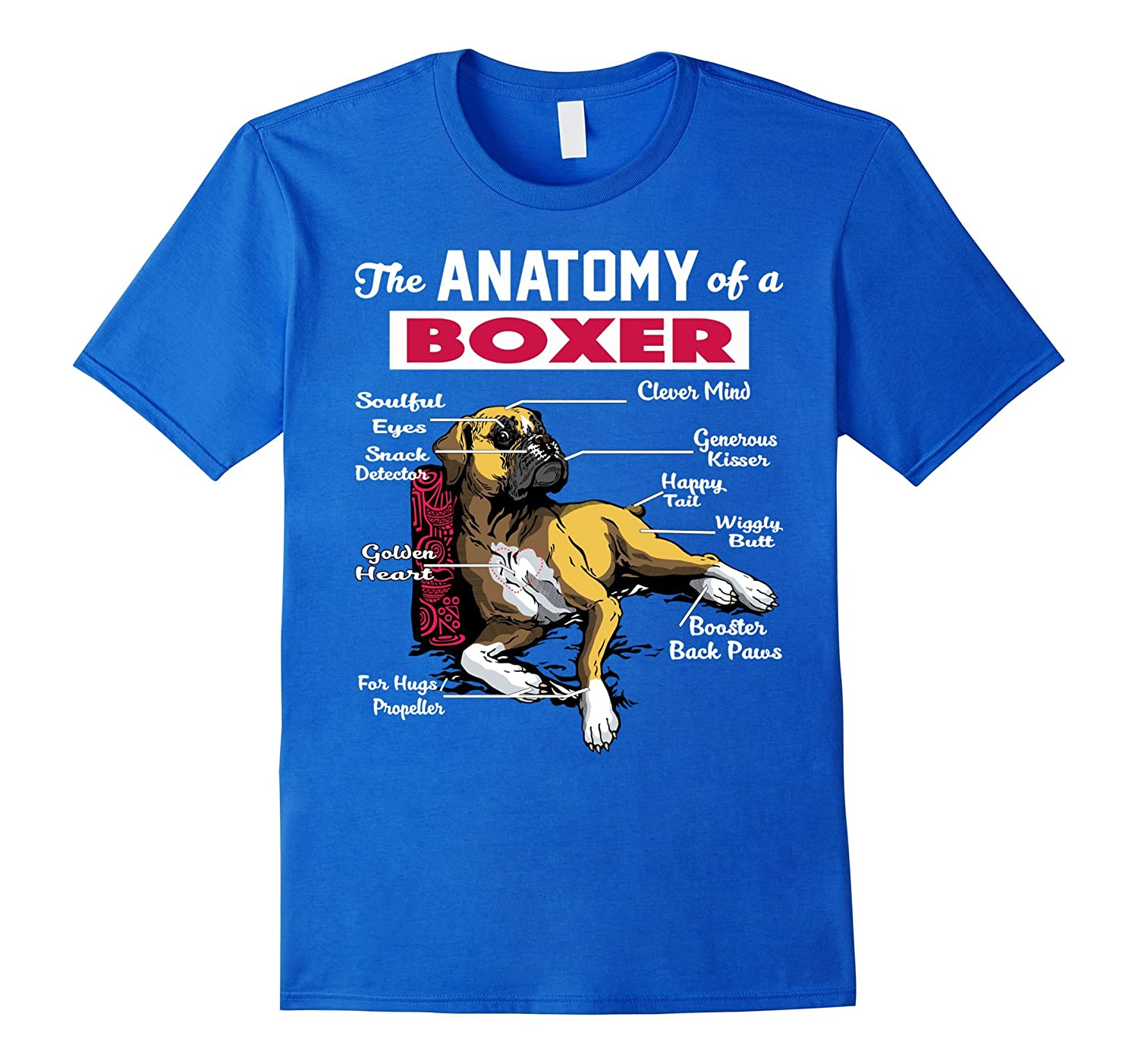 Anatomy of a Boxer Dog shirt - Funny Shirt for Boxer lover-ANZ ...