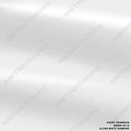 Avery SW900-161-D GLOSS WHITE DIAMOND 3in x 5in (SAMPLE SIZE) Supreme Vinyl  Car Wrap Film