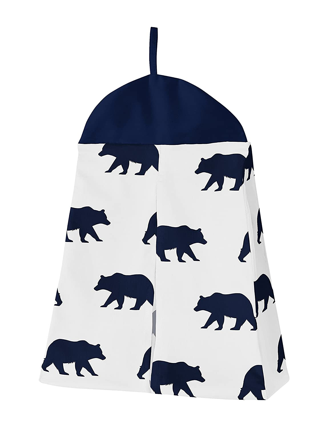 Gold 4 Pieces and White Patchwork Big Bear Boy Baby Crib Bedding Set Without Bumper by Sweet JoJo Designs Navy Blue
