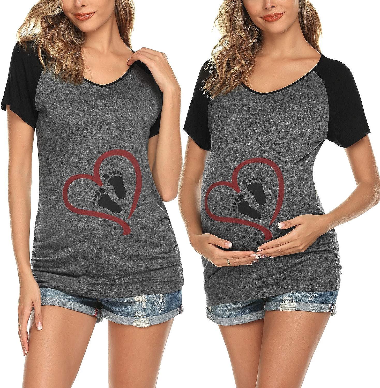 Ekouaer Maternity Clothes Women's Nursing Tops for Breastfeeding Tee Shirts Soft Double...