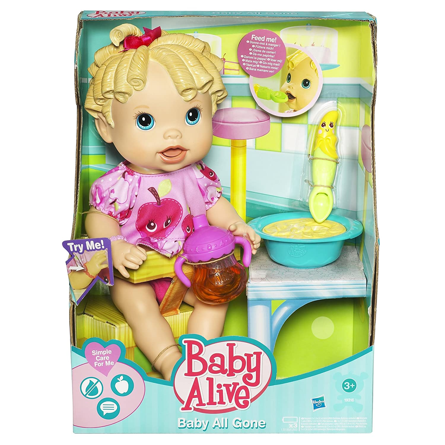 Amazon Baby Alive Baby All Gone Blonde Toys & Games