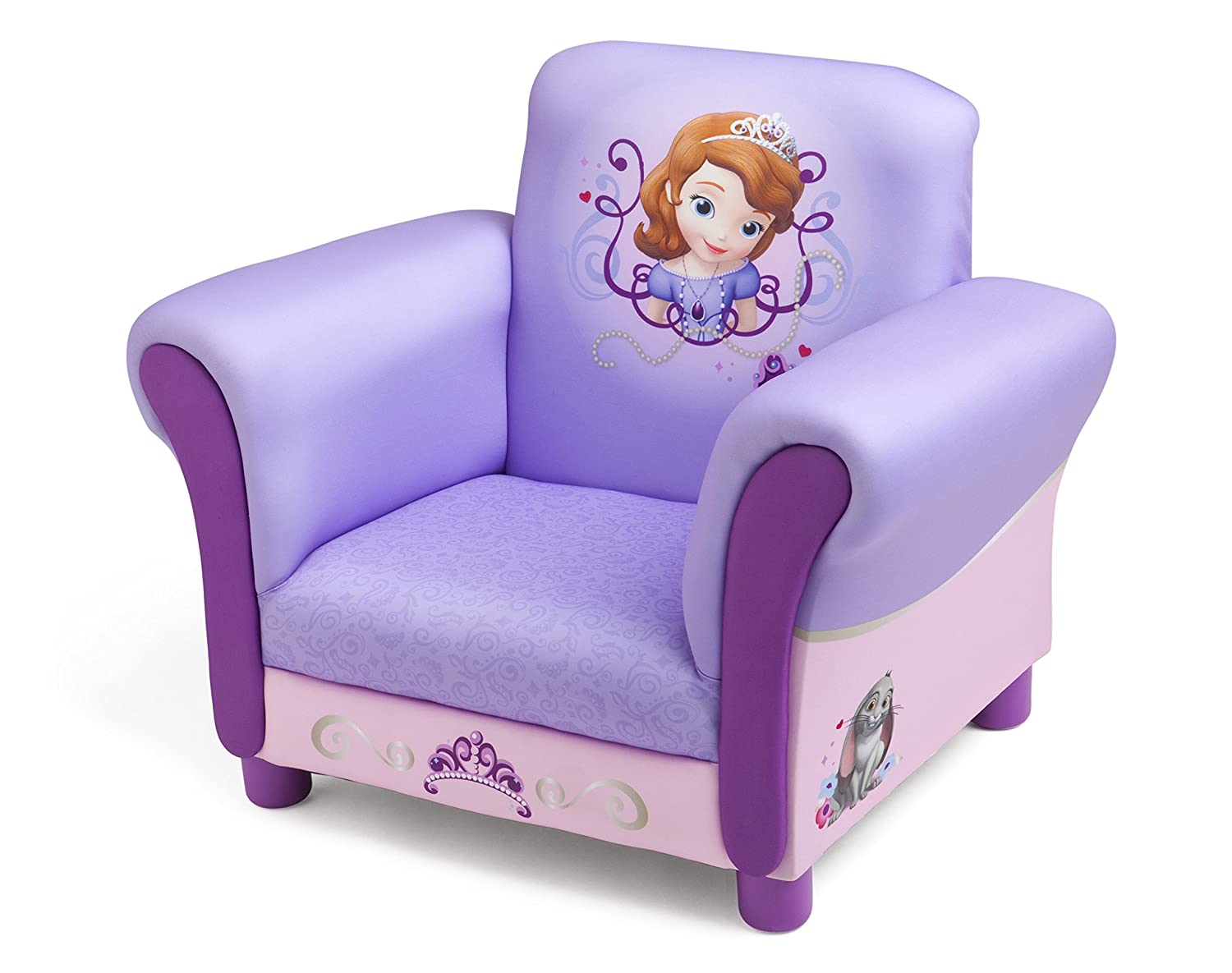 Amazon.com: Disney Sofia the First Upholstered Chair by Delta ...