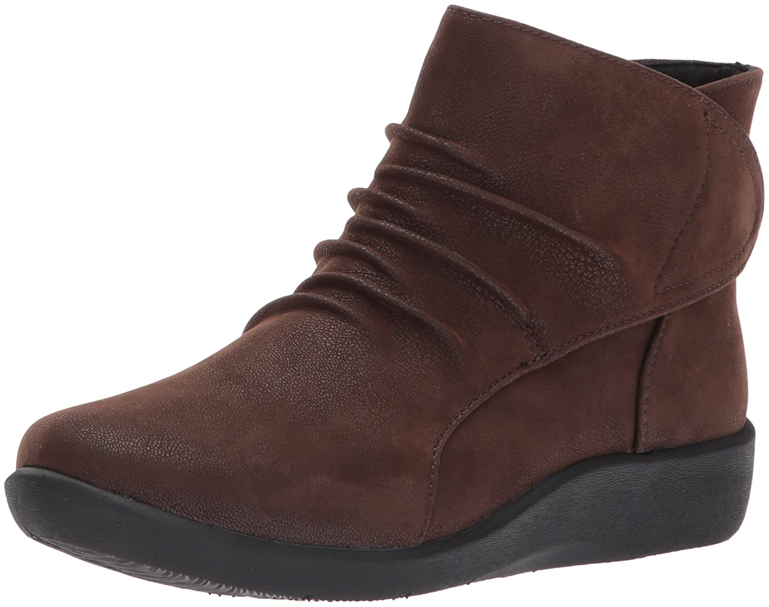 CLARKS Women's Sillian Sway Ankle Bootie B01MSYROH2 6.5 W US|Brown