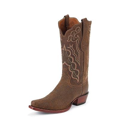 Tony Lama Men's Signature Series Kangaroo Cowboy Boot Square Toe Sienna 9 D(M) US   Boots