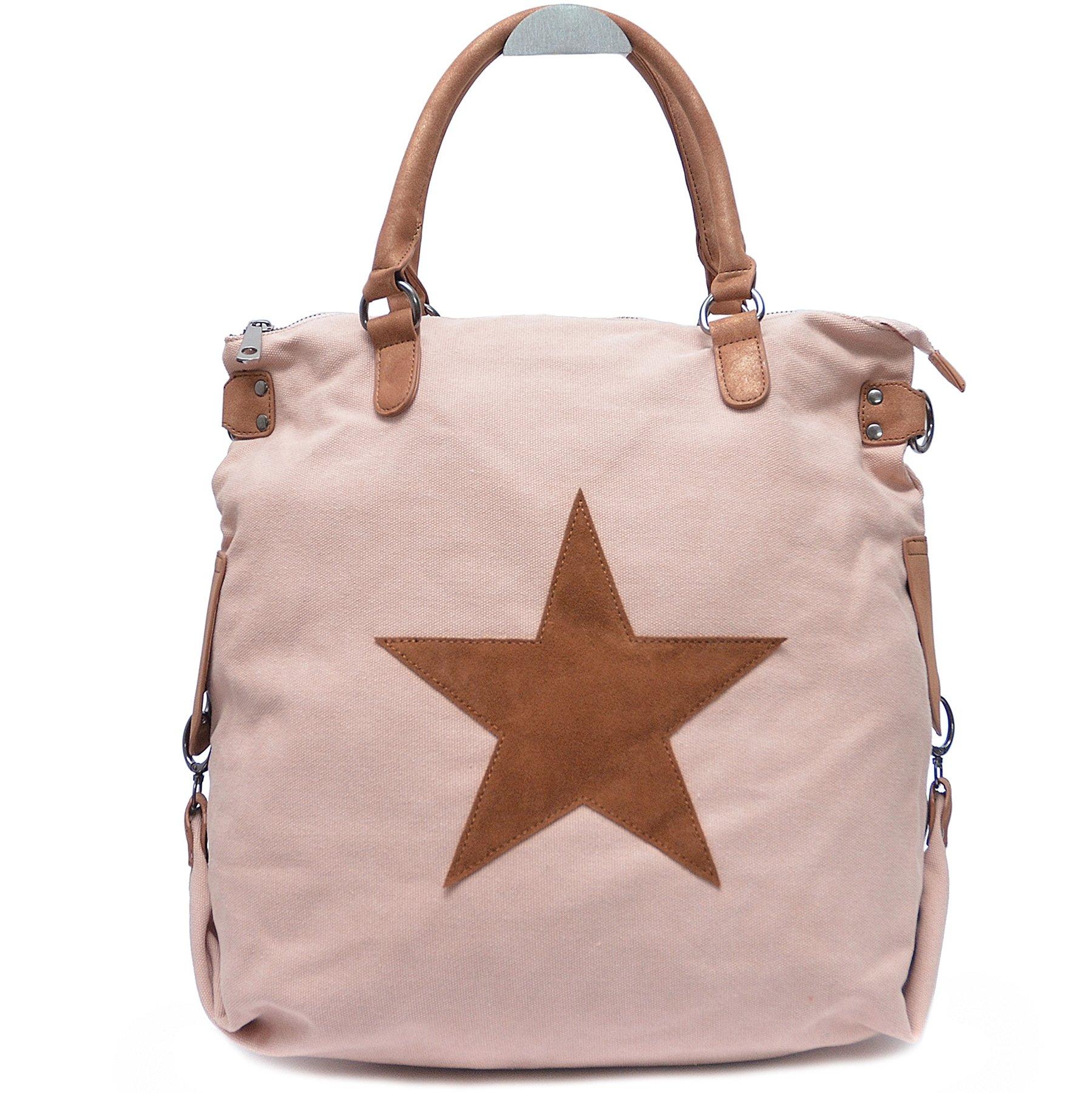 f96d60f182aa6 Vain Secrets Sternen Shopper Damen Handtasche mit Schulterriemen product  image