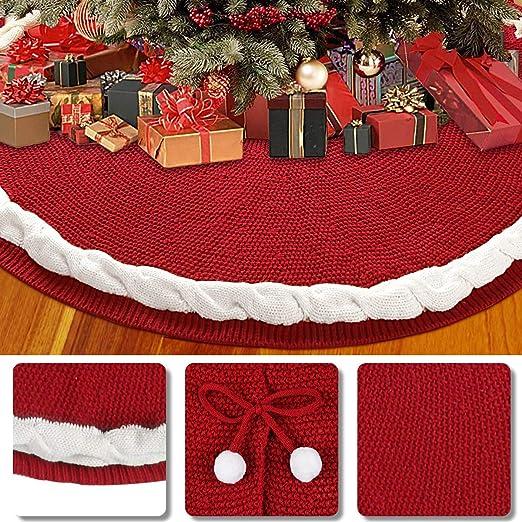 Aitsite Faldas árbol de Navidad, Estera de árbol de Decoración ...