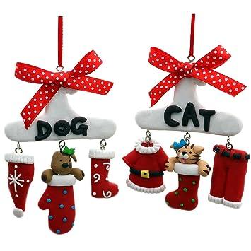 Weihnachtsdeko Hund.Weihnachtsdeko Hänger Fimo Christbaumschmuck Dekoration Weihnachten