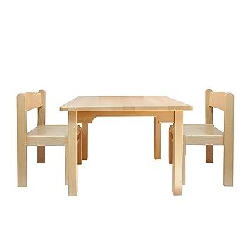 Muebles Para Niños de Madera de La Haya Sólida Natural Barnizada ...