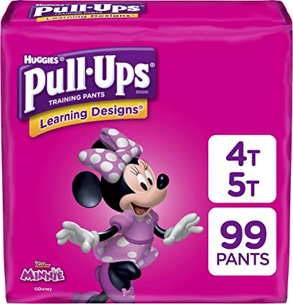 22 count  Doc Disney Pull-Ups Learning Designs Training Pants for Girls 3T-4T