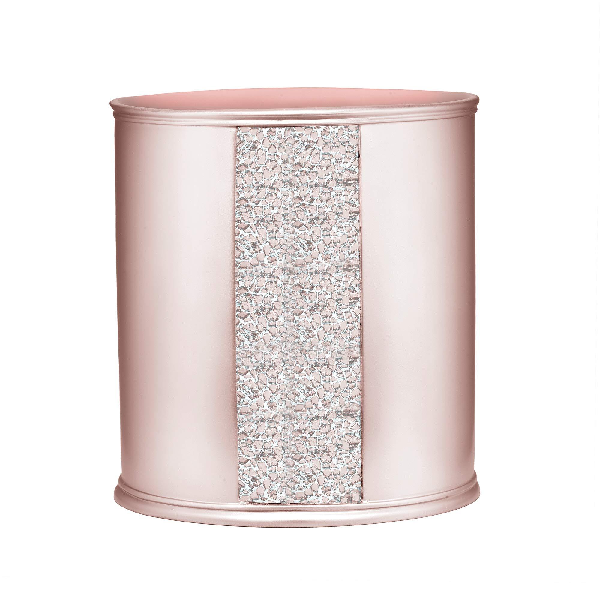 Popular Bath Sinatra Waste Basket, Blush