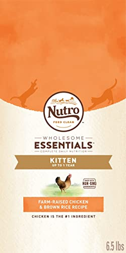 Nutro Wholesome Essentials Kitten Dry Cat Food Farm-Raised Chicken Brown Rice Recipe