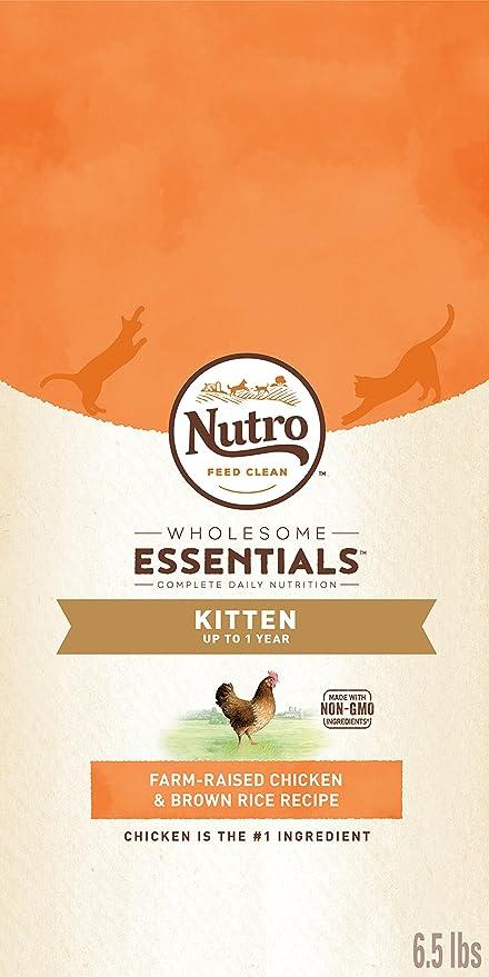 The Nutro Company Wholesome Essentials - Comida para gatitos con pollo y fórmula de arroz marrón, 1,27 kg: Amazon.es: Productos para mascotas
