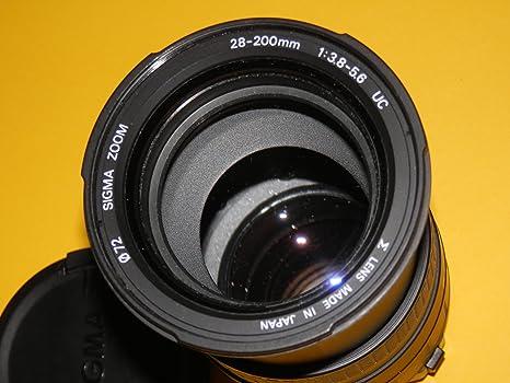 Tele – Zoom – Aspherical – Objetivo AF – Sigma 28 – 200 mm 1: 3.8 ...