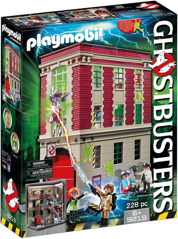 PLAYMOBIL 9219 Ghostbusters, Cuartel Parque de Bomberos, a Partir de 6 Años