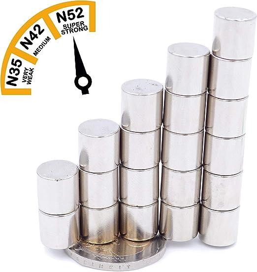 Imanes de Neodimio 10 X 2mm Super Imán Alta Fuerza Adhesiva Disco N35 25 Piezas