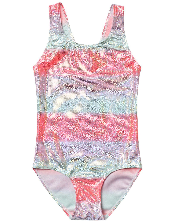 Girl Swimsuit Bathing Suits Unicorn One Piece Teen Kid Rainbow Swimwear Blue