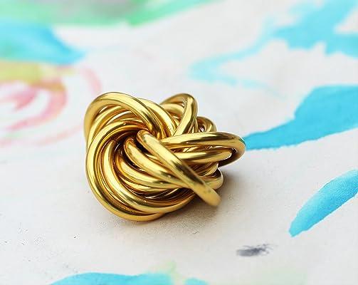 Gold Snitch Möbii, Fidget Stim Toy for Restless Hands, Gold Mobius Ball, Small