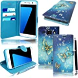 Mobile Stuff Samsung Galaxy J5 (2016) J510 Case, Soft Slim PU Leather Protective Case with Stand Function And Credit Card Slots (BUTTERFLY GOLD BOOK)