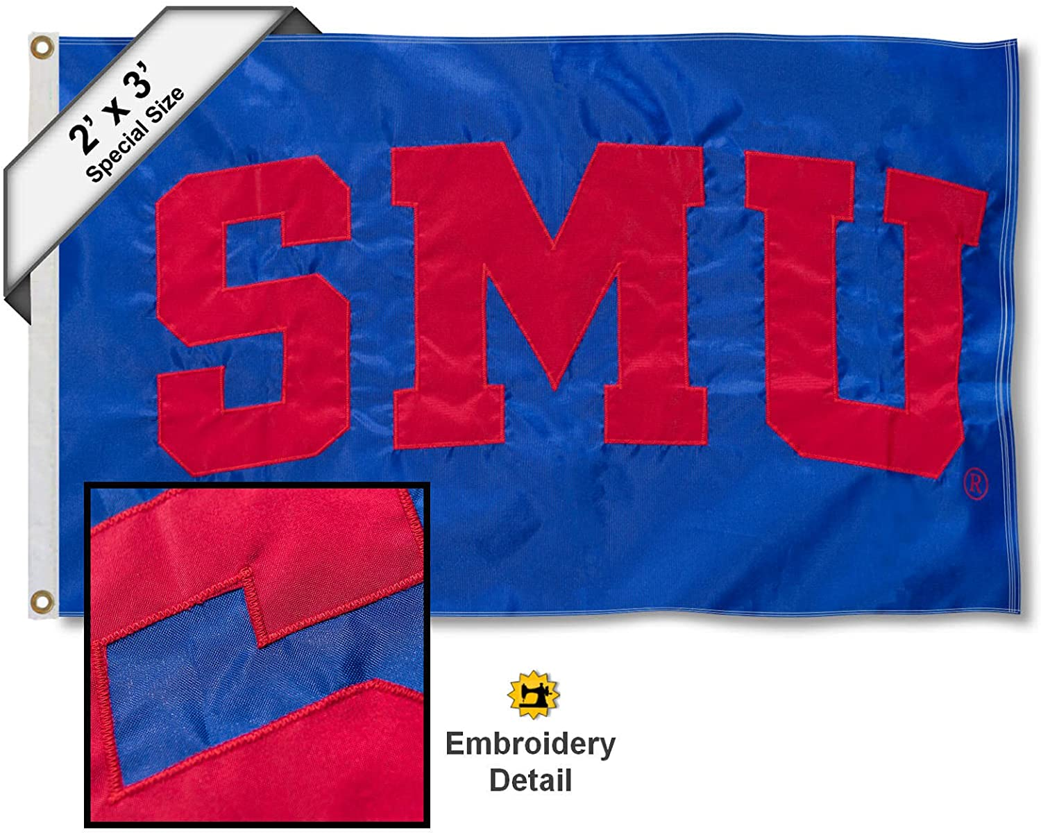 Southern Methodist University SMU Mustangs House Flag College Flags and Banners Co