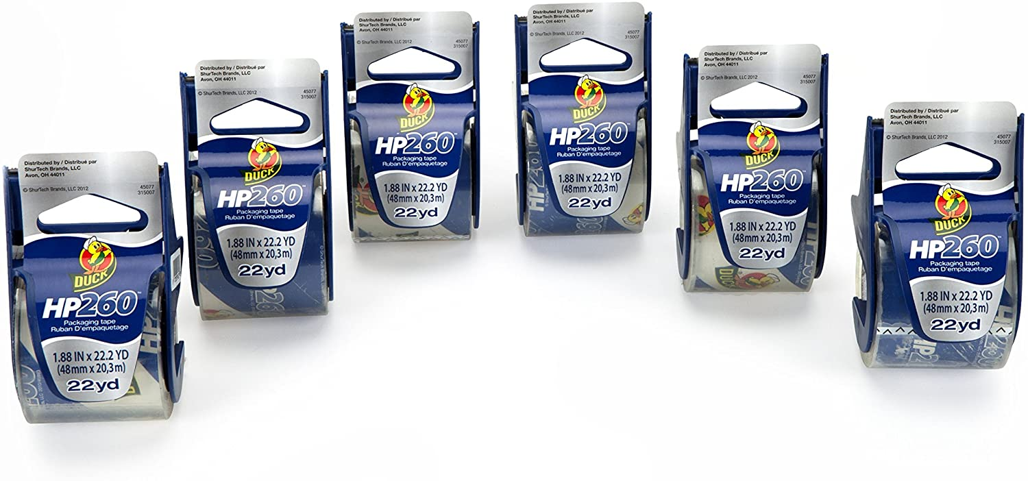 Duck HP260 High-Performance Packaging Tape, 6 per Pack (DUC280065)