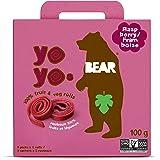 BEAR Fruit Yoyos - 5 X 2 Rolls - Healthy Fruit Snack, Raspberry, 100 Grams