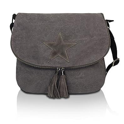 0715eb03742f4 Glamexx24 Damen Handtaschen Tasche Schultertasche Umhängetasche mit Stern  Muster Tragetasche TE201616