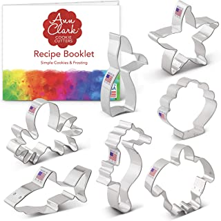 product image for Ann Clark Cookie Cutters 7-Piece Under The Sea Cookie Cutter Set with Recipe Booklet, Seashell, Octopus, Seahorse, Shark, Starfish, Turtle and Mermaid Tail