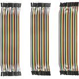 DEYUE Jumper Wires Set - 120 PCs 3in1 breadboard Wires, Male to Male, Female to Male, Female to Female