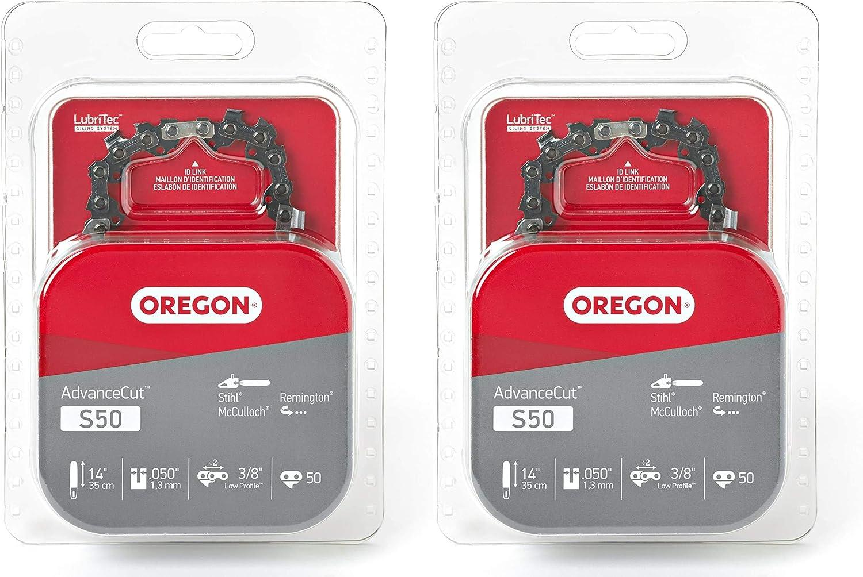 2 Pack Oregon S50 AdvanceCut 14-Inch Chainsaw Chain McCulloch Remington Fits Stihl