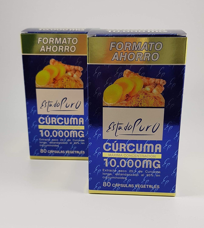 Tongil Estado Puro Cúrcuma 10.000 mg. Pack 2 unidades (80+80 cáp.) (2)