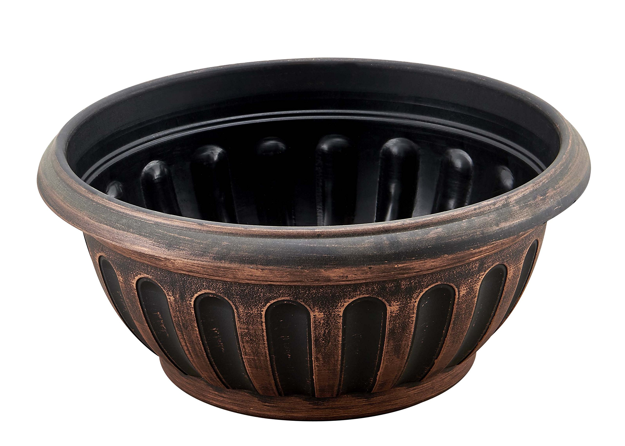 Round Rustic Shallow Dome Bowl Planter Fancy Look Flowerpot with Wide Base for Indoor Outdoor Garden Patio Office Ornaments Home Decor Long Lasting Reusable Light Weight (Copper-S)