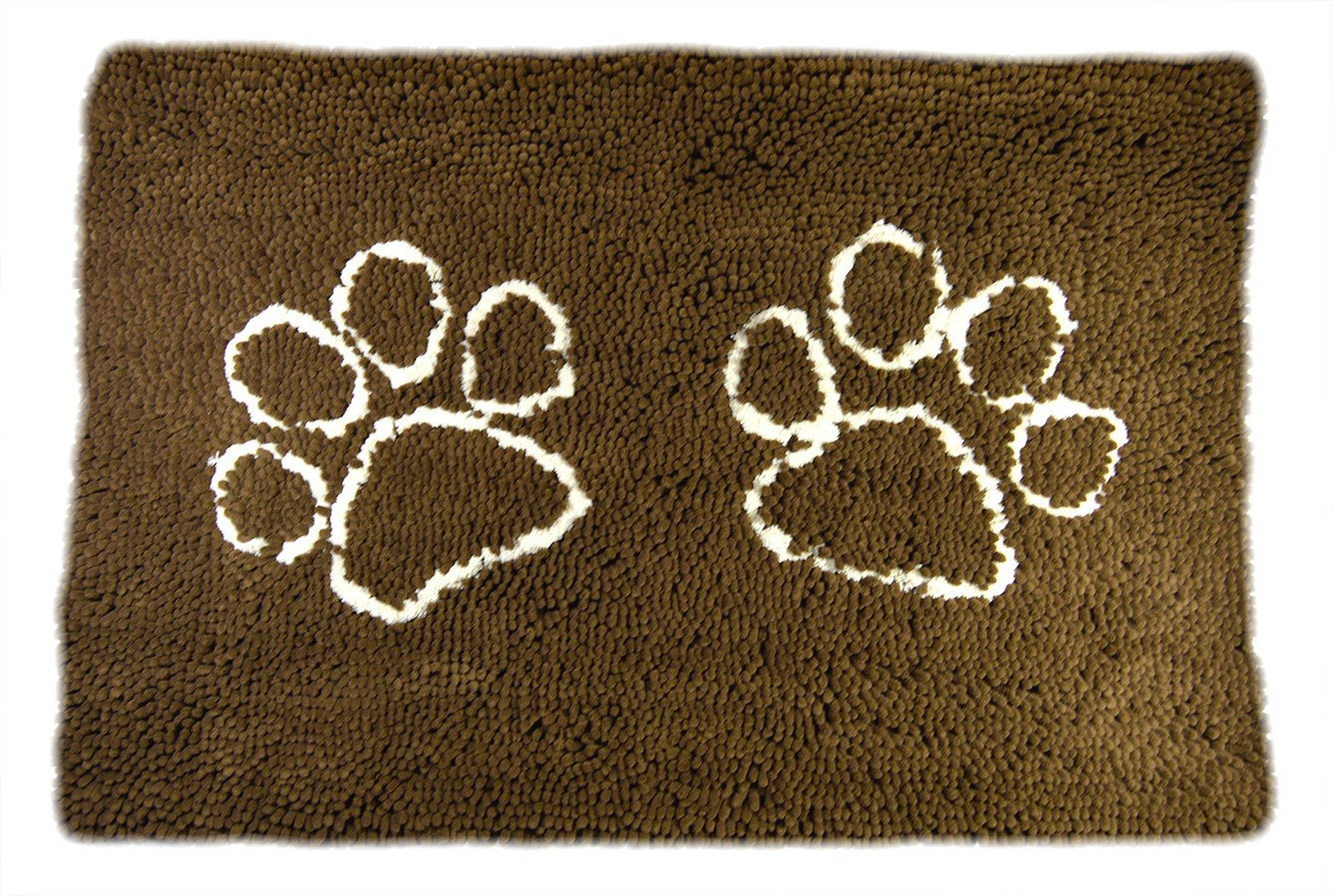 My Doggy Place - Ultra Absorbent Microfiber Dog Door Mat, Durable, Quick Drying, Washable, Prevent Mud Dirt, Keep Your House Clean (Brown w/ Paw Print, Runner) - 60 x 36 inch by My Doggy Place (Image #2)