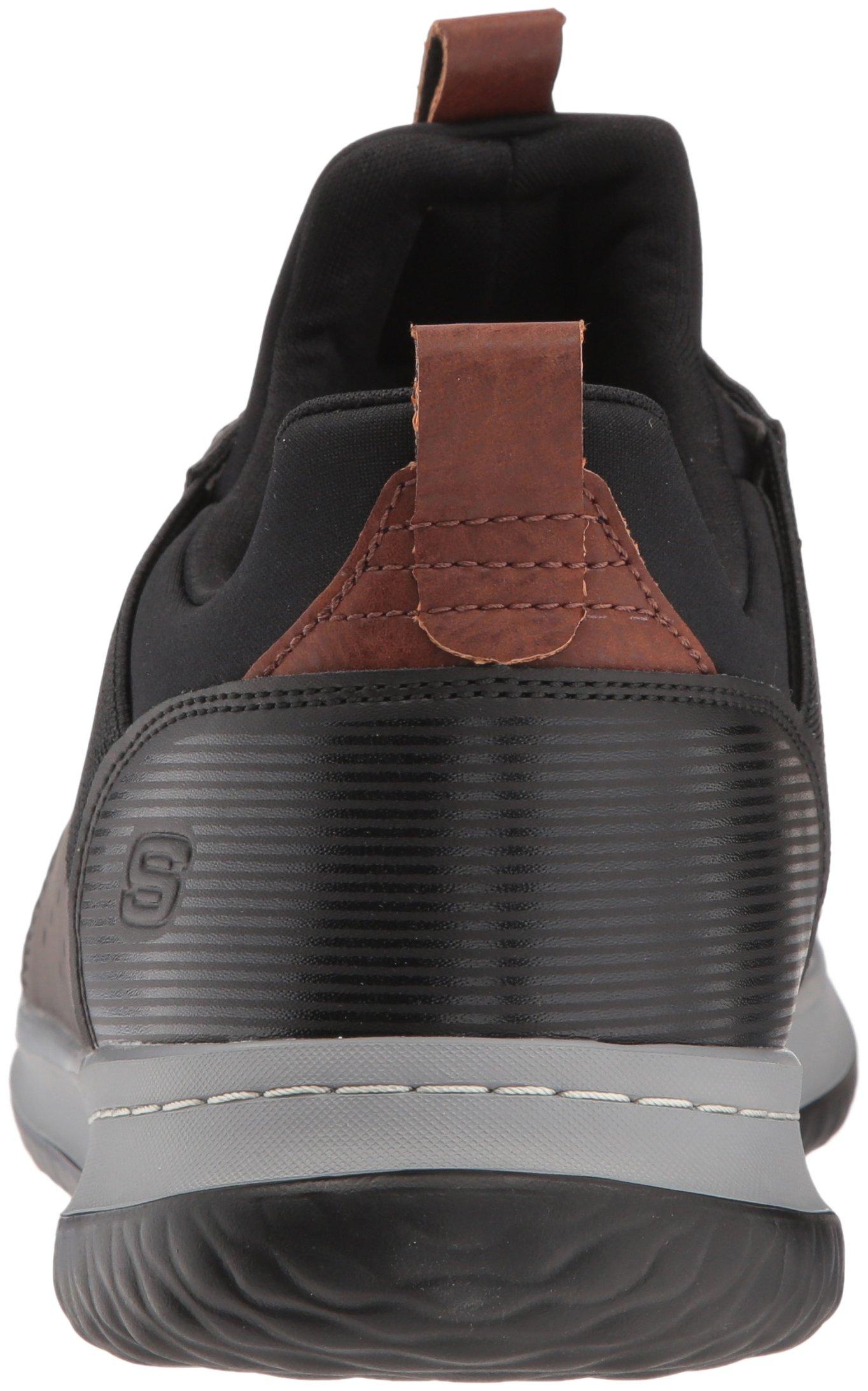 Skechers Men's Classic Fit-Delson-Camden Sneaker, Black/Grey,7 Wide US