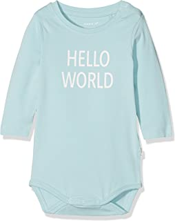 name it Baby Mädchen Langarm-Body Vitte mit Lochmuster in evening sand