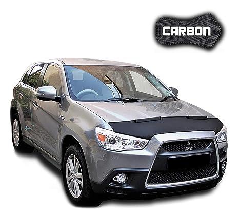 Sujetador de campana capó de carbono Mitsubishi ASX (coche sujetador parte delantera para nariz máscara
