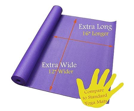 Amazon 84 x 36 extra wide extra long purple yoga pilates amazon 84 x 36 extra wide extra long purple yoga pilates mat exercise mats sports outdoors reheart Choice Image