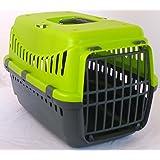 Urban Living Pet Carrier Seatbelt Holder Carry Handle Small Animal Transporter Green Grey Pink (Green)