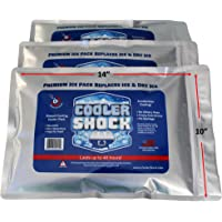 "Cooler Shock 3X Lg. Zero°F Cooler Freeze Packs 10""x14"" - No More Ice Replaces Ice and is Reusable - Easy Fill - You Add Water and Save! - 12lbs Total"