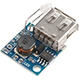 DROK Mini USB DC-DC Step Up Converter 3V to 5V 2A Mobile Power Supply Charger Board with Battery Indicator for Tablet PC iPad iPhone Charging DIY