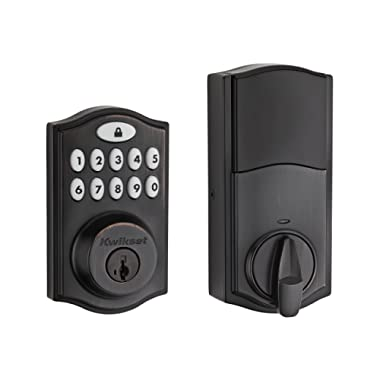 Kwikset 99140-003 914 Z-Wave SmartCode Electronic UL Deadbolt, Works with Alexa via SmartThings, Wink, or Iris featuring SmartKey in Venetian Bronze